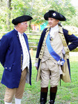 2013 - Colonial Reenactors Ralph Denlinger and Carl Closs (portraying General George Washington)
