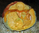 Best use of Pumpkin: #28 Paula Miller, Phyllis Muyskens, Herbert Miller, and Brandon Miller